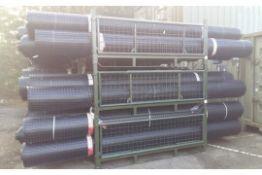 5 x UNISSUED Tensar SS20 Geogrid Ground Foundation Reinforcement Rolls 4m x 75m