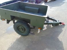 Sankey 3/4 ton widetrack trailer with dropdown tailgate, military lighting and tow ring, drum brakes