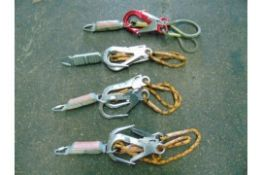 Qty 4 x Heightec Twin Fall Arrest Lanyard with Oval Scaff Hooks