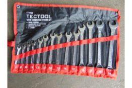 Unissued Tectool 14 pcs Combination Spanner Set