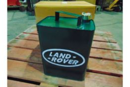 2 x Reproduction Land Rover Branded Oil Cans