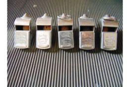 5 x Genuine British Army 'The Acme Thunderer' Military Whistles