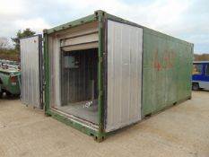 20' ISO Shipping Container C/W Stainless Steel Interior Lining, A/C, Roller Shutter Door etc