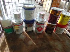 Stillage of Mixed Paint, Adhesives and Lubricants Direct from Reserve Stores