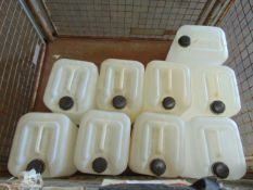 Qty 9 x Unissued 20 ltr Water Containers