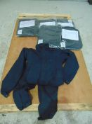 Qty 6 x Unissued Fire Retardant Public Order Coveralls