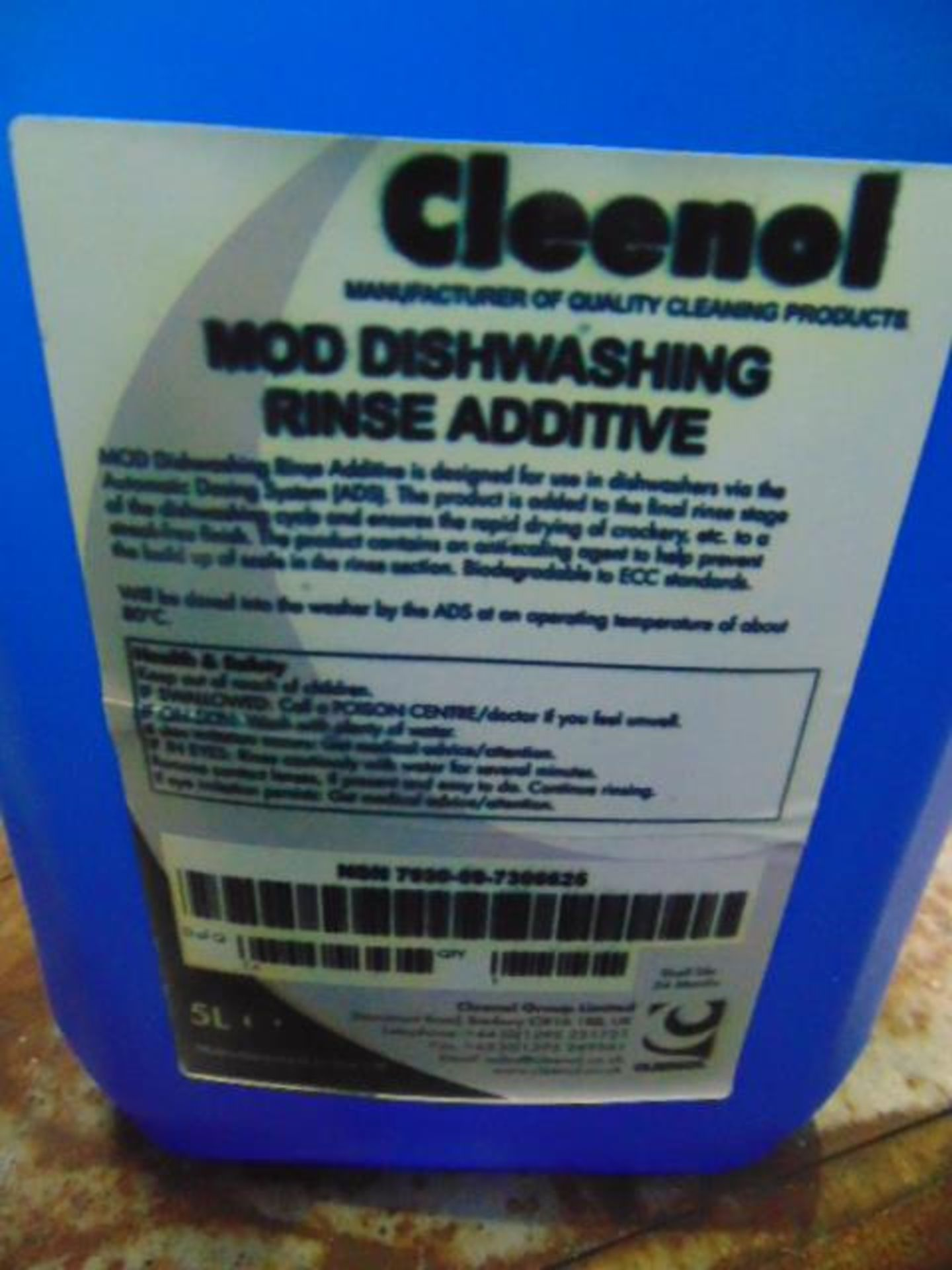 Lot 72 - Qty 13 x 5 Ltr Cleenol Mod Dishwashing Additive direct from reserve stores