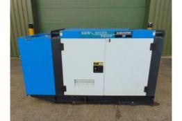 UNISSUED 25 KVA 3 Phase Silent Diesel Generator Set. This generator is 3 phase 230/400 volt 50 Hz