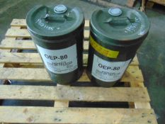 Qty 2 x 25Ltr OEP-80 Gear Oil direct from reserve stores