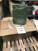 Qty 5 x 2017 New Unissued 20 Litre Nato Jerry Cans
