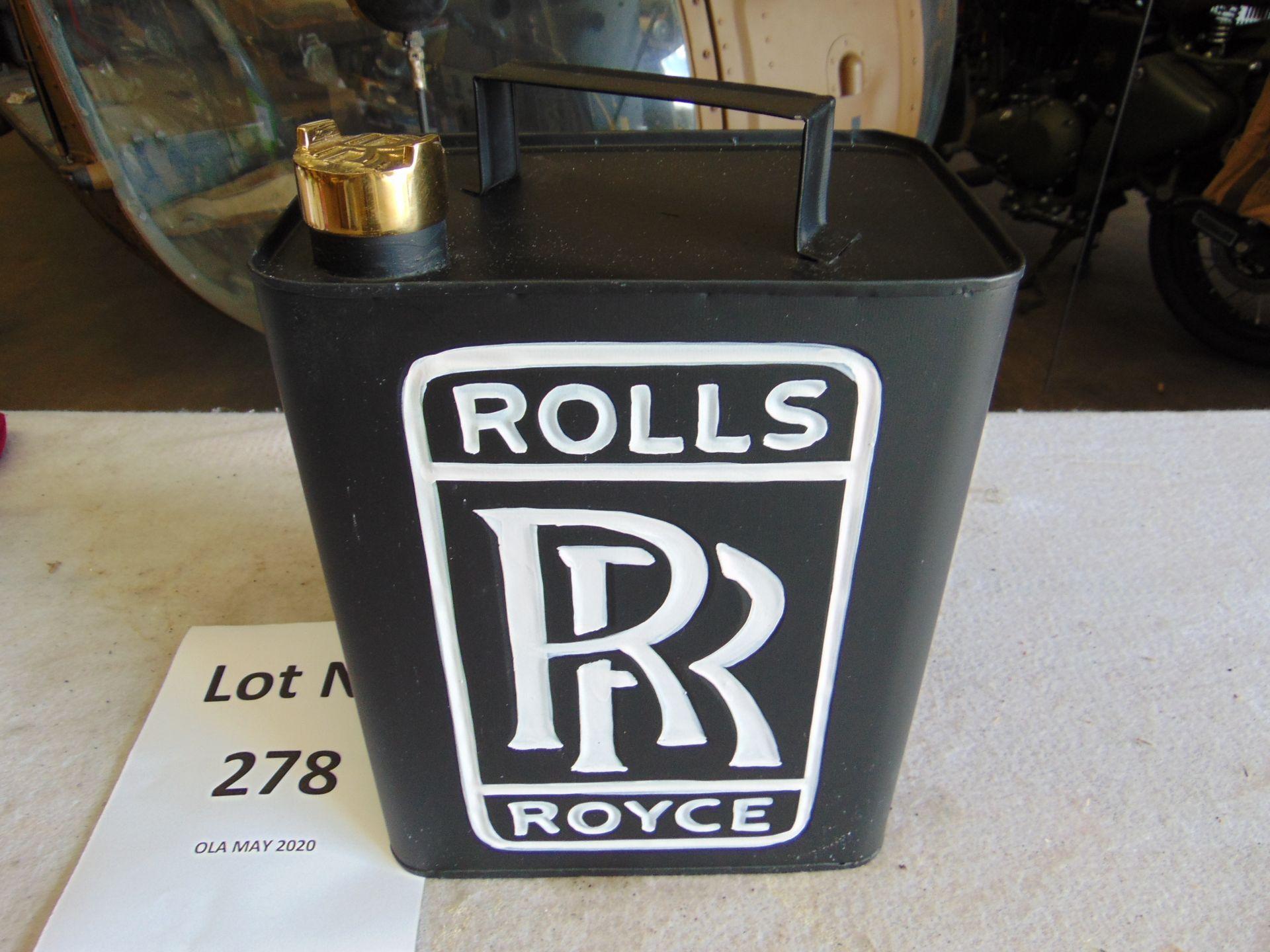 Lot 278 - Unused Rolls Royce Fuel/Oil Can with brass screw cap