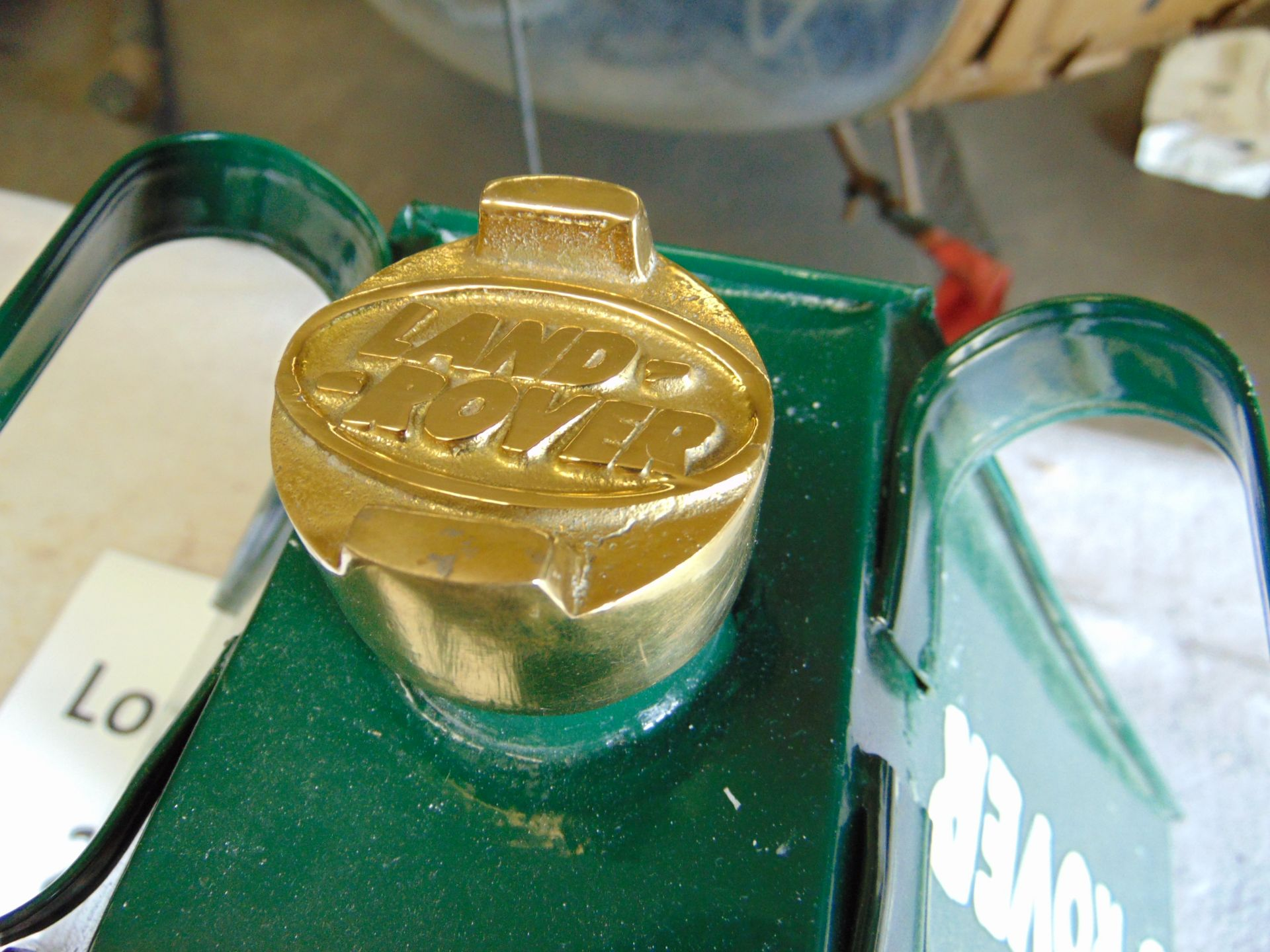 Lot 279 - Unused Land Rover Fuel/Oil Can with brass screw cap