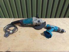 Makita Angle Grinder & Cordless Drill