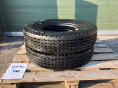 Qty 2 x 7.5R16 Michelin XZAI Tyres 14 Ply rating unused with bobbles