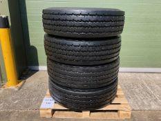 Qty 4 x 315 80R 22.5 Michelin XZY-2 tyres