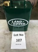 Vintage Style Land Rover Fuel Can with Brass Cap