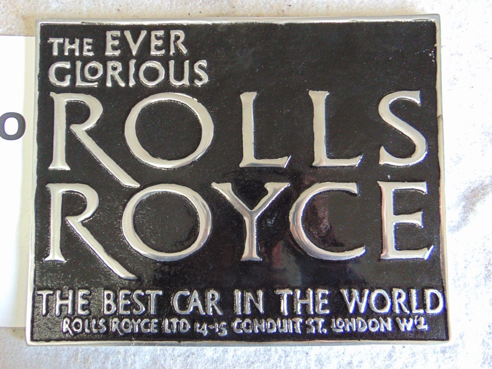 Lot 271 - Unissued Rolls Royce Cast Aluminium Sign