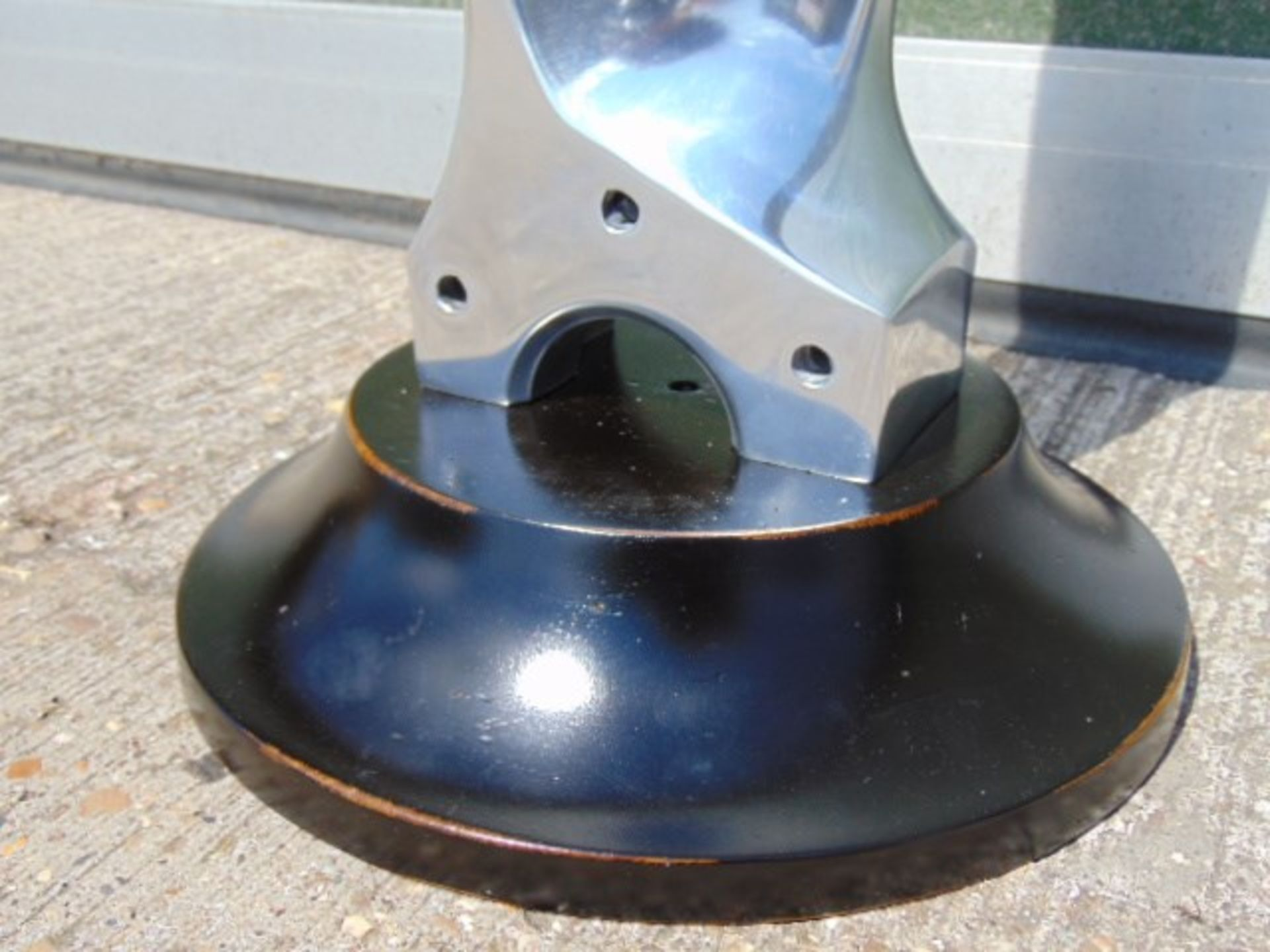 Lot 283 - Polished Aluminium Propeller Blade on Stand