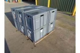 QTY 10 x Standard MoD Stackable Storage Boxes c/w Lids