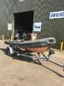 Viking 470 Rib with Tohatsu 40 HP Outboard and Galvanised trailer as show