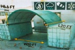 """Container Shelter 20'W x 20'L x 6'6"""" H P/No C2020."""
