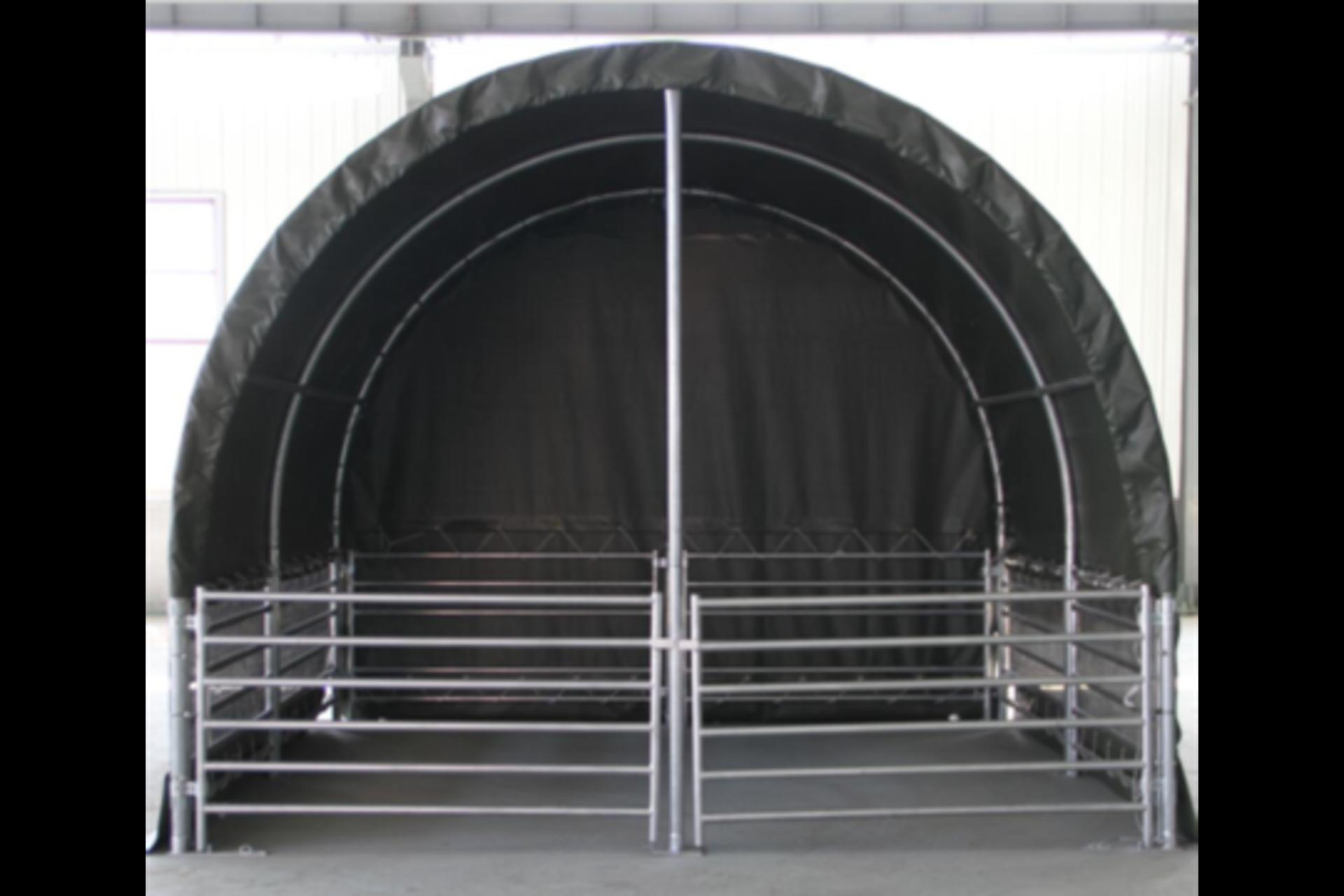 Lot 280 - Heavy Duty Gated Livestock Shelter 13'W x 13'L x 10'H P/No LS1313