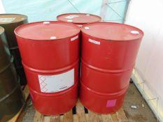 3 x Unused 200L Drums of Estasol General purpose solvent.