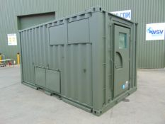 Ex Reserve Demountable Secure Workshop/Office Unit C/W Twist Locks, Air Con, Work Stations etc
