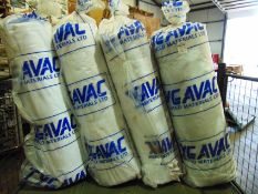4 x Unissued Rolls of Tygavac Advanced Materials Breather Bleeder Cloth Length 100m x Width 1520mm