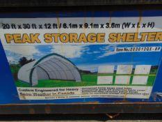 Heavy Duty Storage Shelter 20'W x 30'L x 12' H P/No 2030GL-8P