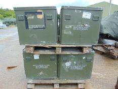 4 x Large Aluminium Storage Boxes