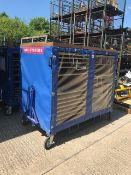 Quantity 2 x BAE Systems MOD Mobile Tool Trolley with draw bar.