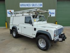 2007 Land Rover Defender 110 Puma hardtop 4x4 Utility vehicle (mobile workshop) with hydraulic winch