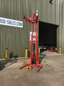 Unused Ex Reserve Direct MOD Logitrans 1000kgs forlift with Barrel Clamp, rotator and charger.