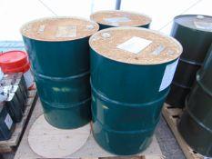 3 x Unused 200L Drums of Ultra-Safe OX-40 High Quality Hydraulic Fluid.