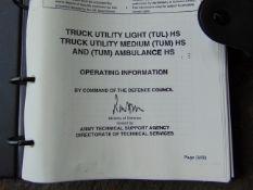 Unissued UK MoD Land Rover Wolf (TUL) (TUM) Operators Information Manual