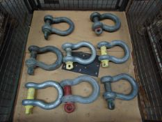 8 x Heavy Duty 25 Tonne D Shackles