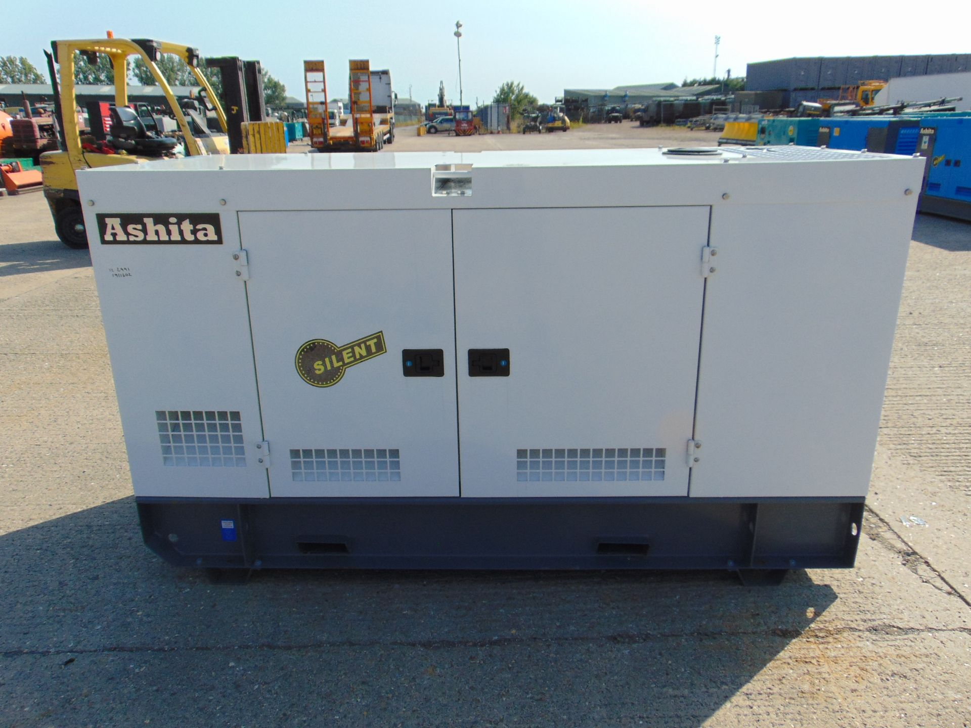 Lot 1 - UNISSUED WITH TEST HOURS ONLY 70 KVA 3 Phase Silent Diesel Generator Set