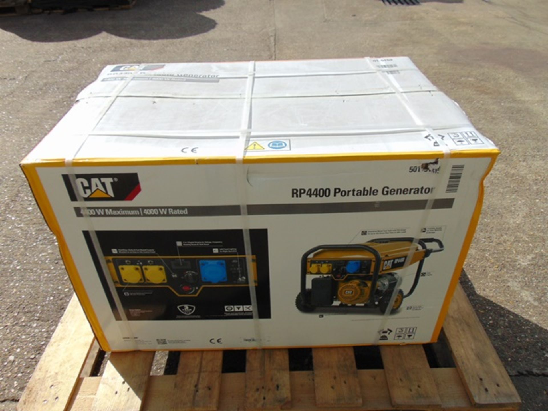 Lot 36 - UNISSUED Caterpillar RP4400 Industrial Petrol Generator Set