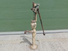 Genuine Anitique Full Size Cast Iron Water Pump