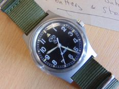 New Unissued British Army CWC W10 Water Proof to 5 ATM Service Watch C/W plastic glass covering 2006