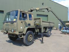 LHD Leyland DAF 4X4 Truck complete with Atlas Crane