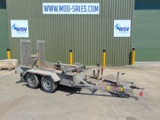 Indespension galvanised 2700 twin axle mini digger/plant trailer