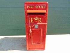 Cast Aluminium Red Post Box