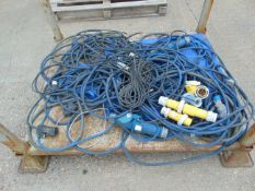 Mixed Electrical Power Cables, Connectors, Plugs, Sockets etc