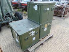 3 x Large Aluminium Storage Boxes 85 x 73 x 65 cms