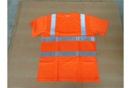 Qty 100 x Unissued Cosalt Hi Vis Tee Shirts