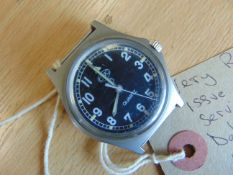 Very Rare Royal Marines Navy Issue 0552 CWC Fat Boy Case W10 Watch dated 1985