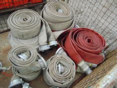 10 x Rolls of Layflat Fire Hoses and 2 x Stand Pipes