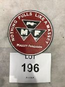 Cast Iron Massey Ferguson Tractor Wall Sign